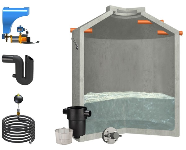 Regenwasseranlage Hydrophant 9200Liter Haus