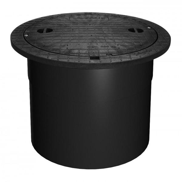 Teleskopdom - PE-Deckel mit Teleskopierbarem Dom - kindersicher, PKW-befahrbar bis 600 kg